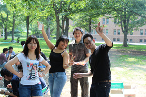 Study with many international students